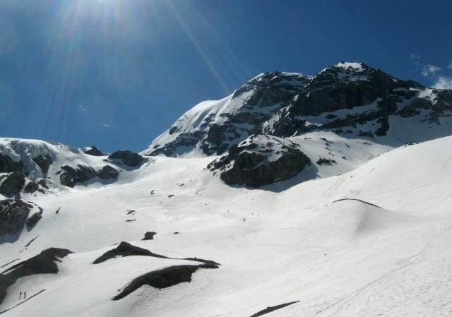 Freeride lungo la Valle dei Vitelli, Ghiacciai dello Stelvio