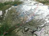 Prospettiva della discesa Valle di Verra