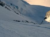 Zermatt Scivolo, soggettiva sull ingresso