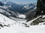 Discesa al Lago Blu nella valle di Verra
