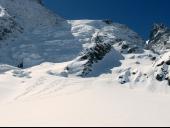 Under Theodule, parete di uscita dal ghiacciaio alto