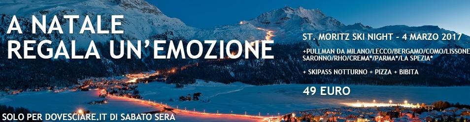 A Natale regala gita notturna St.Moritz