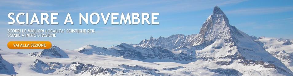 Sciare a novembre. Le prime stazioni sci aperte