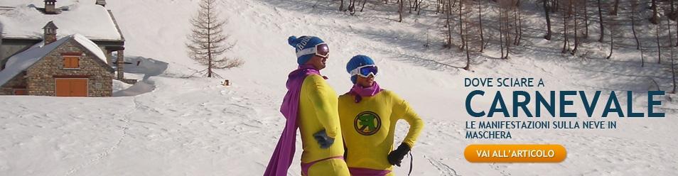 In maschera sugli sci