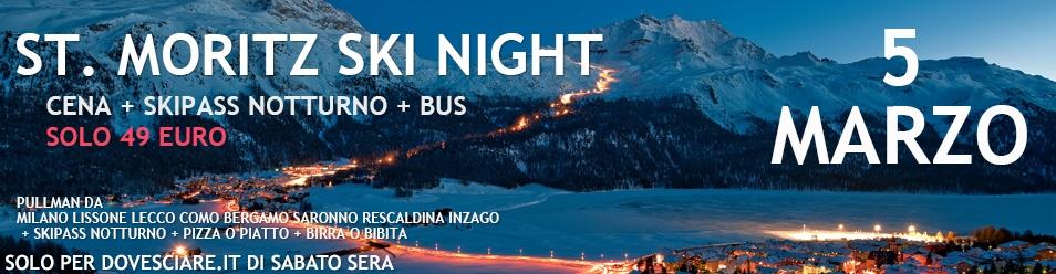 St Moritz Ski NIght 2016 - sci notturno il sabato sera