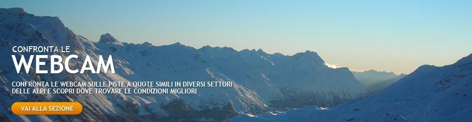 Confronta le webcam neve sulle piste da sci