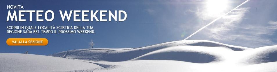 Sciare con il sole nel weekend