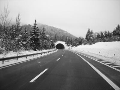 sciare in auto