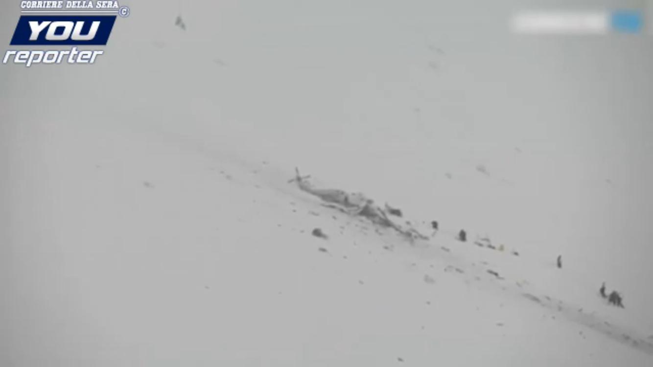 Ultim'ora: precipita elicottero del 118 nell'aquilano, a bordo 6 persone