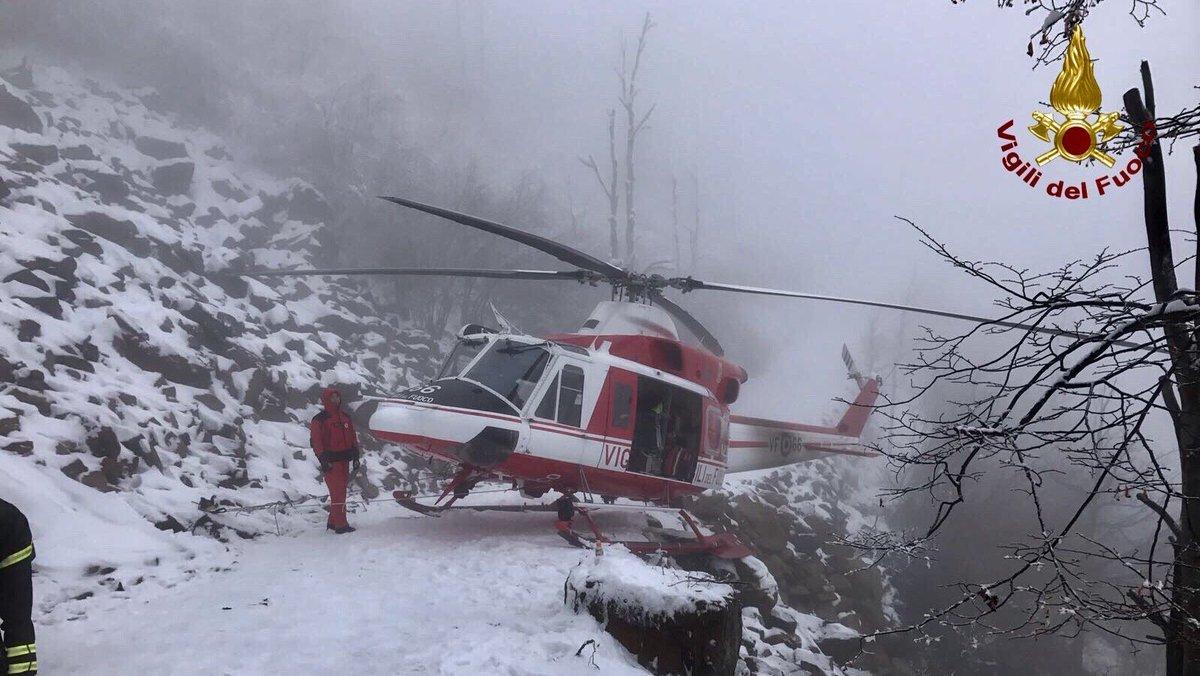 Elicottero precipitato a Campiglio, escluse vittime