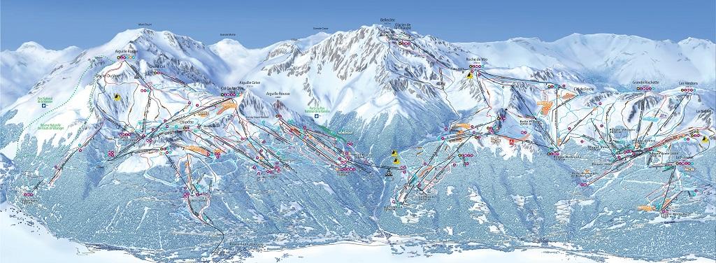 cartina piste sci skimap interattiva paradiski