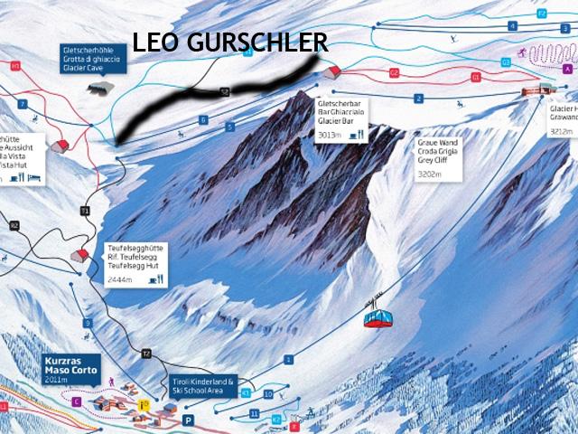 cartina nuova pista val senales Leo Gurschler