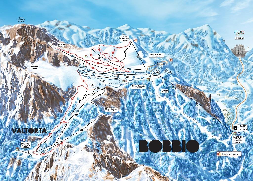 cartina piste sci piani di bobbio