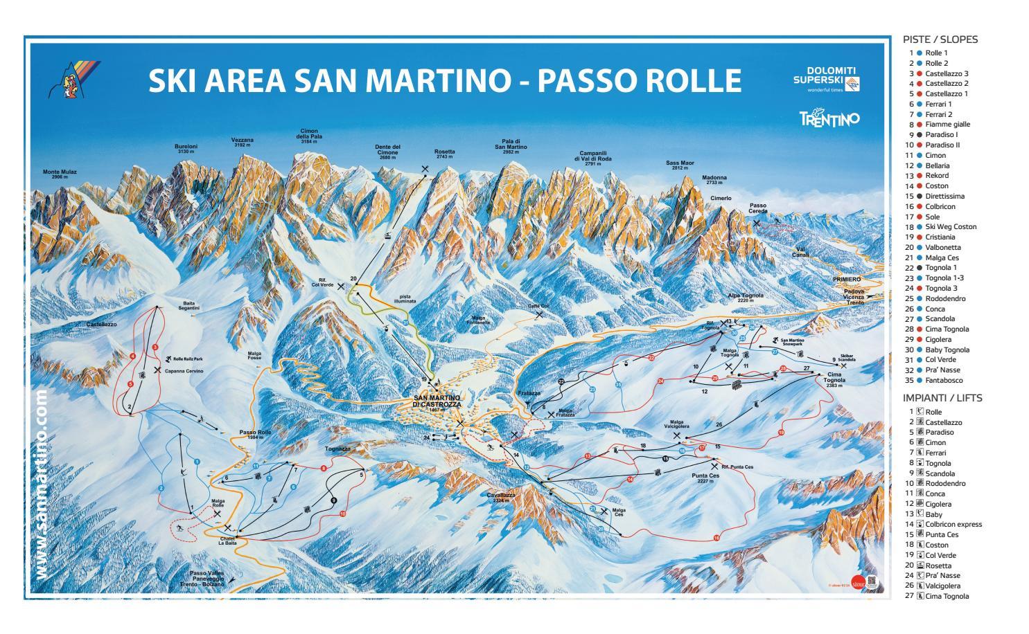 Web cam piste sci san martino di castrozza webcam