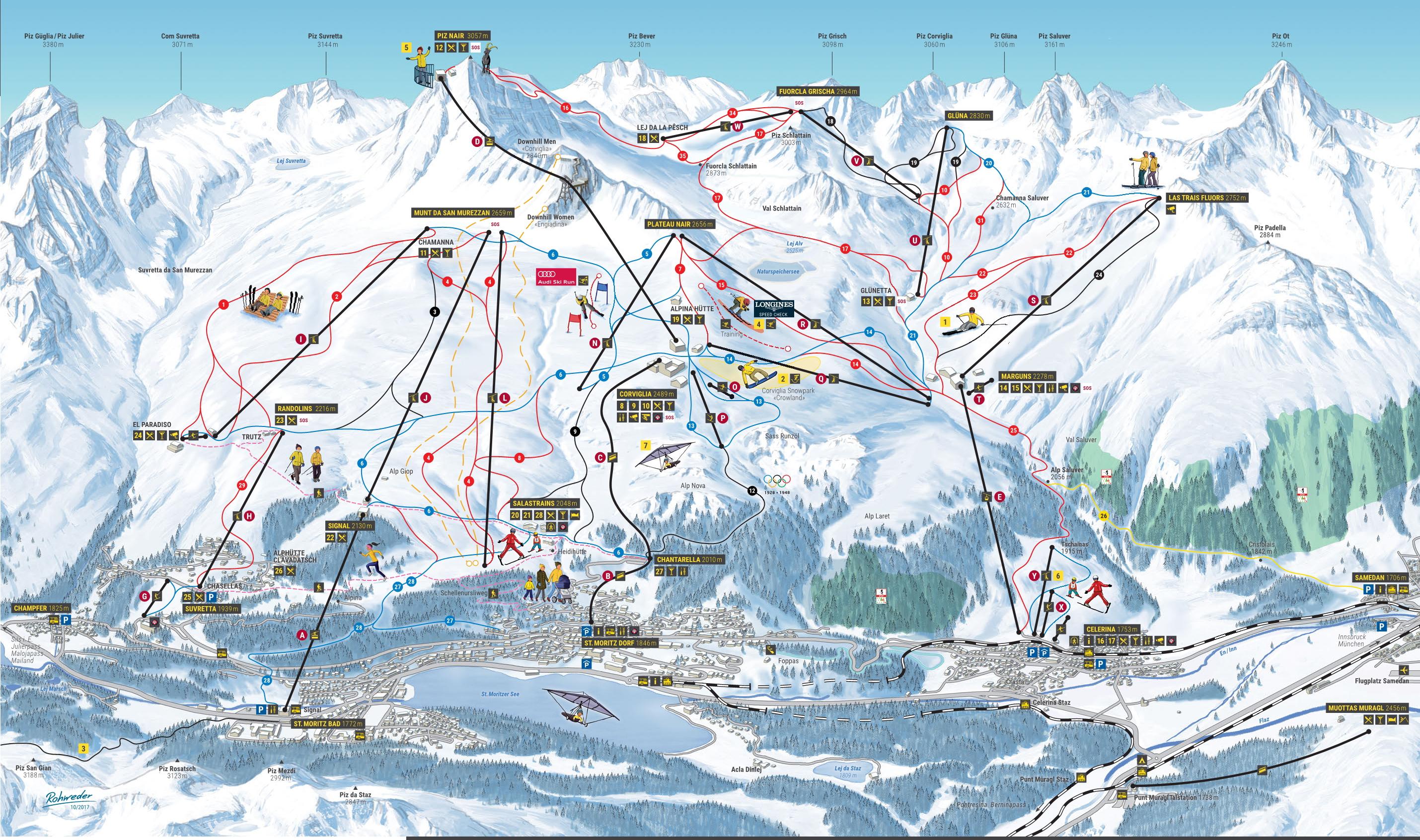 97179931a675ea Cartina Sankt Moritz - Mappa delle piste di Sankt Moritz   Dove Sciare