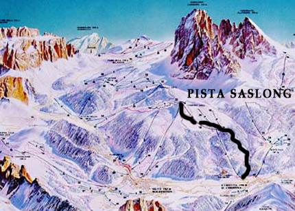 Cartina pista sci Saslong