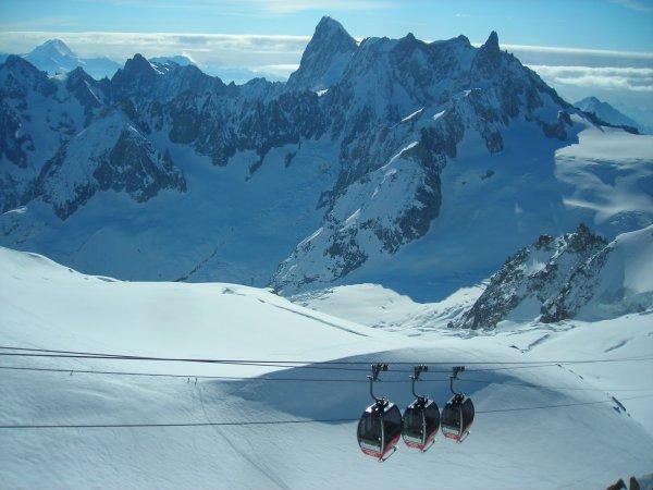 Elicottero Monte Bianco : Monte bianco persone bloccate in funivia sul