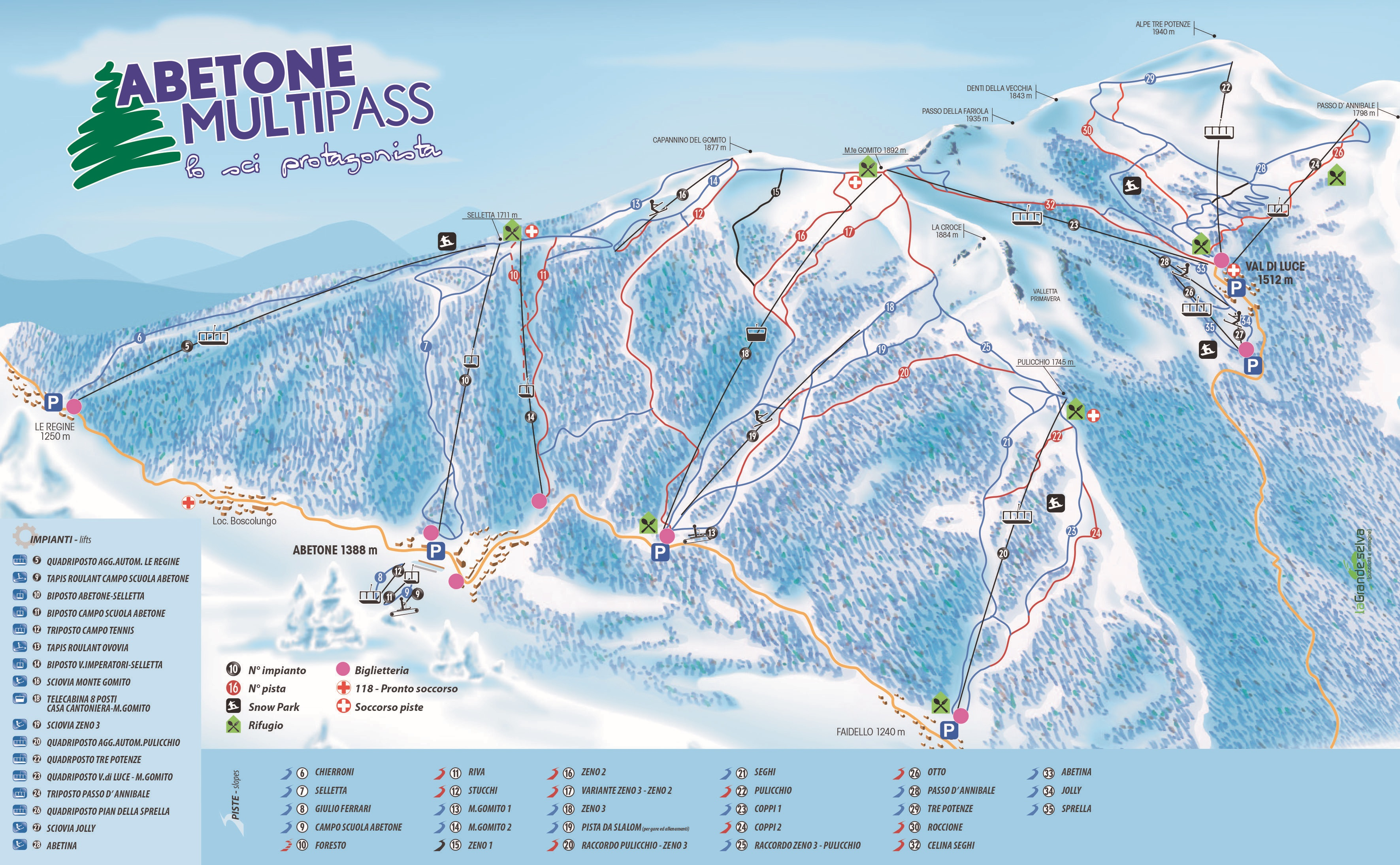 Cartina Piste Sci Abetone Skirama Abetone Dove Sciare